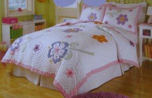 That's mine Girls Huge Flower full/queen Quilt Sheet Set 5pc New