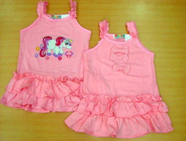 Little Pink Dress - Plain Ribbon  Size 3 and Size 7