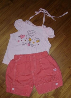 151 Cute Girl 2 piece Set - Pink  ( Size 3)