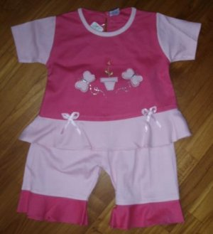 213 Cute and Sweet 2 piece Set - Pink  ( Suitable for 1-2 yrs old)