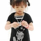 J1182 Mickey Mouse Cute Black Dress