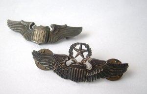 Set of Original WWII Sterling Pilot & Command Pilot Wings