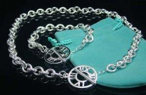 925 Sterling Silver Rome Number Necklace&Bracelet