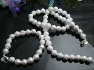 925 Sterling Silver Beads Necklace&Bracelet DSCO6658
