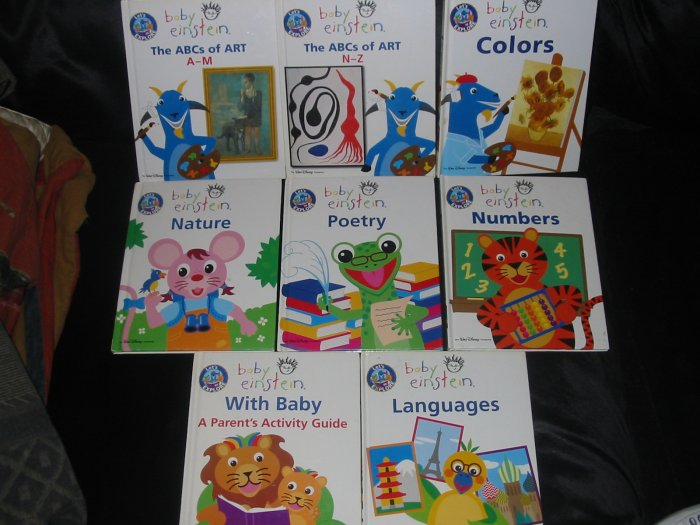 Lot 8 Walt Disney Baby Einstein Hardcover books FREE US SHIPPING