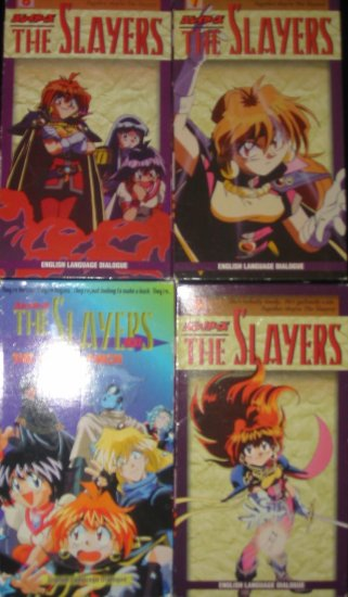 Lot 4 Slayers Videos Manga Anime VHS FREE US SHIPPING