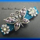 Vintage Swarovski and French Crystal Butterfly with Flowers Barrette