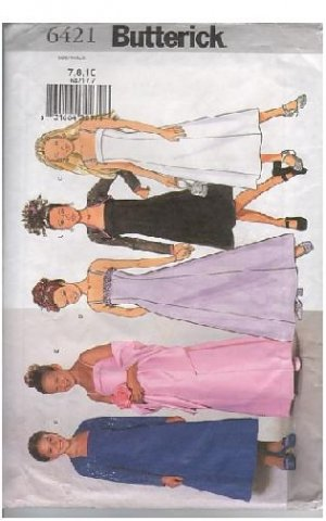 6421 Butterick Sewing Pattern GIRLS PARTY DRESS W/ WRAP Size 12-14