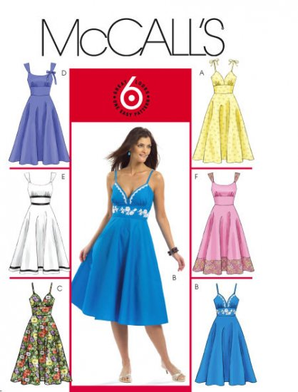 M5094 McCalls Sewing Pattern MISSES' DRESSES 6 GREAT LOOKS 1 EASY PATTERN Sz 12-18