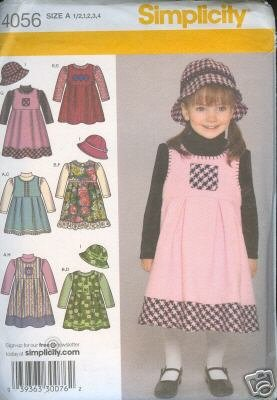 4056 Simplicity Sewing Pattern Infants & Toddlers Knit Top Jumper With Matching Hat  Sz 1/2-4