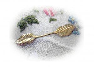 One Dozen Brass Leaf Charms