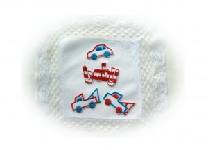 Sampler of Toddler/Baby Boys Embroidered Appliques. Baby,Trucks,Car (1)