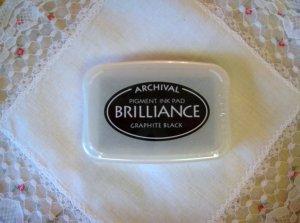 Brilliance Archival Pigment Ink Pad. BR-82 GRAPHITE BLACK
