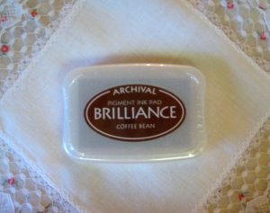 Brilliance Archival Pigment Ink Pad. BR-54 COFFEE BEAN