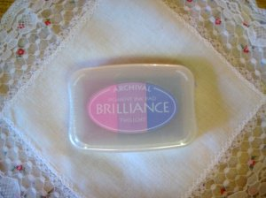 Brilliance Archival Pigment Ink Pad. BR-303 TWILIGHT Light Pink, Purple, And Blue