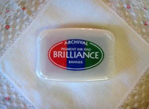 Brilliance Archival Pigment Ink Pad. BR3-06 BANNER Bright Red, Blue, And Green
