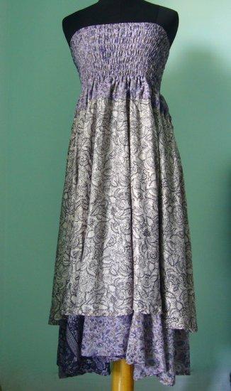 Smock Dress & Long Silk Skirt Gypsy, Boho Indian Style (ss011)