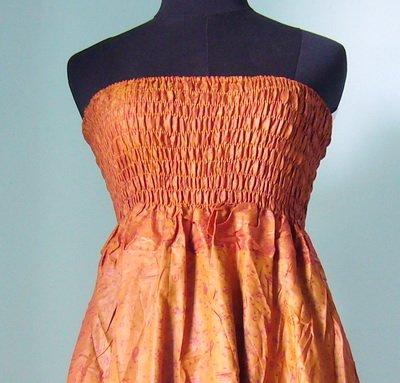 Smock Dress & Long Silk Skirt Gypsy, Boho Indian style (ss015)