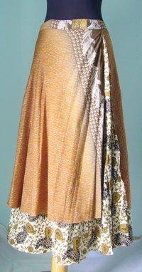 Long Wrap Silk Skirt ,Gypsy, Indian Style (sw104)