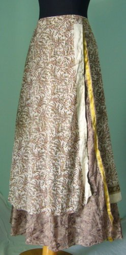 Long Wrap Silk Skirt ,Gypsy, Indian Style (sw105)