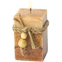 Rustic Wood Squared Votive