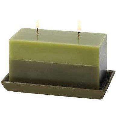 Two-Tone Greenery Candle