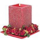 Red Stardust Candle
