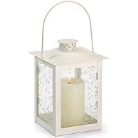 Large Ivory Glass Lantern