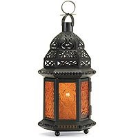 Lantern with Yellow Glass