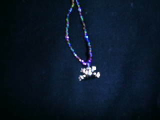 """1 dozen assorted 20"""" glass beaded necklaces with a frog charm"""