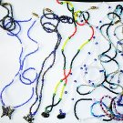 "1 Dozen 20"" Assorted Glass Beaded Necklaces with Assorted Garden Charms"