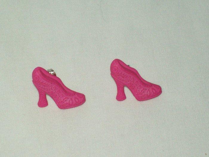 Pink Pump Earrings
