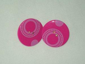 Large Pink Post Earrings