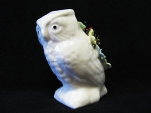 Vintage Pincushion Owl Figurine Retro Collectible Sewing