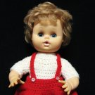 Eegee Girl Baby Doll Rare Hong Kong 13 Inch Sleepy Eyes Blue Blonde Hair