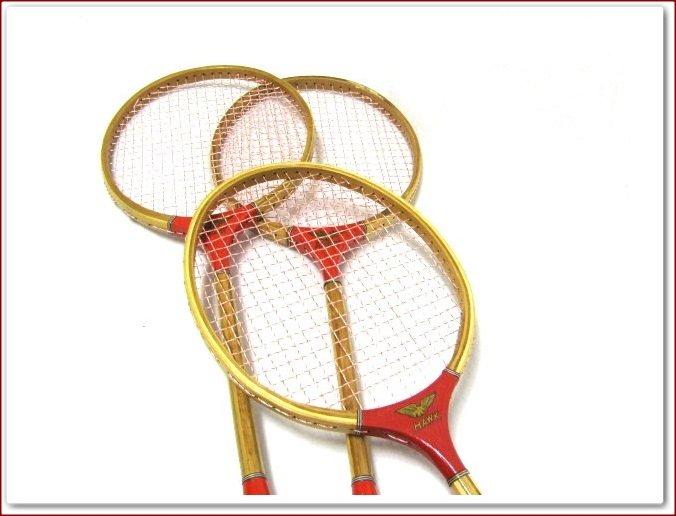 Red Hawk Vintage Badminton Racquets Classic Old School Racket