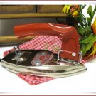 Vintage Clothing Travel Iron Retro Japan ATC Boxed Unused Red Handle Stainless