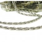 Silver Triple Rope Chain Vendome Vintage Necklace Retro Mod Jewelry 36 Inch Long