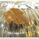 Vintage Maple Leaf Stick Pin Copper Plated Retro Jewelry Hat Sweater Lapel