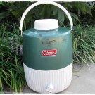 Vintage Coleman Metal Water Jug Green 70's Old School Camping Lodge 3 Gallon Outdoors
