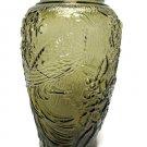 Vintage Empress Peacock Vase Pecan Brown Tiara Indiana Glass 1987 Bird Flowers Collectible