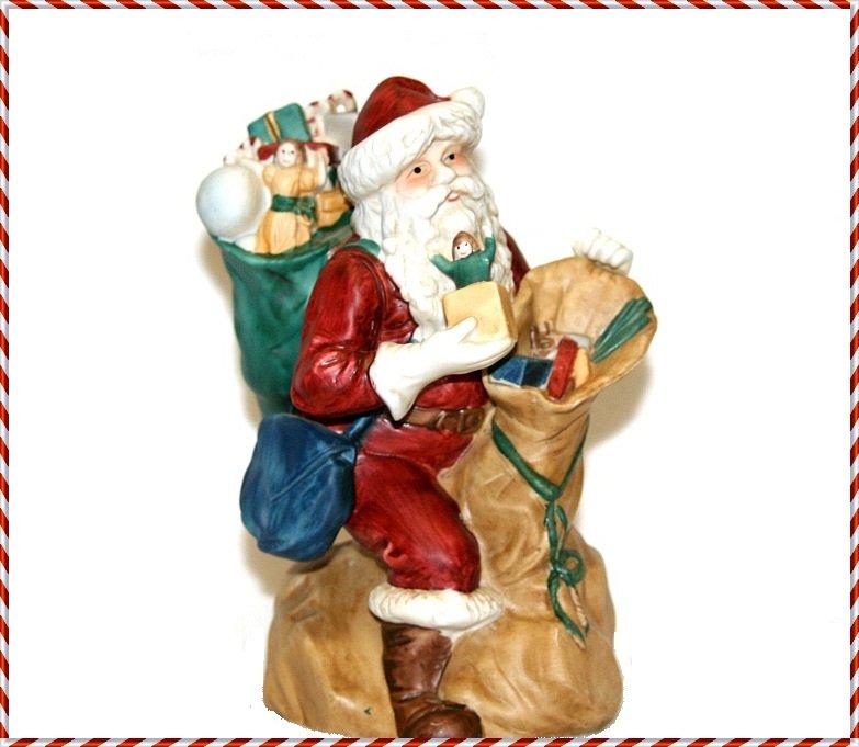 Vintage Santa Claus Musical Figurine San Francisco Music Box Christmas Holiday Decor Collectible
