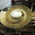 Vintage Scarf Clip Slider Western Germany Gold Ornate Modern Deco