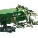 Vintage Singer Sewing Machine Attachments 160809 Ruffler Hemmer Zipper Featherweight Binder Shirring