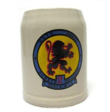 Quaerimus Squadron 2 NATO AWACS Beer Stein Vintage Mug Collectible Military Germany Lion 20 Oz