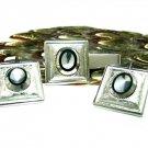 Men's Vintage Cufflinks Tie Bar Sarah Coventry Mod Geometric Silver Square 50s Designer