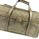 Hartmann Tweed Carry On Suitcase Vintage Luggage Brown Tan Retro Bag Expandable Lock Key
