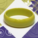 Lemon Lime Green Bakelite Bangle Bracelet Vintage Bright Chunky Thick 1940s Retro Plastic Jewelry