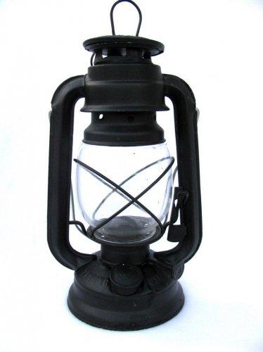Vintage Oil Lamp Lamplighter Farms Black Metal Old Fashion Lantern Lodge Cabin Primative Decor