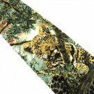 Men's Leopard Necktie Silk Tie Endangered Species Greenwich Workshop 1995 Jungle Animals